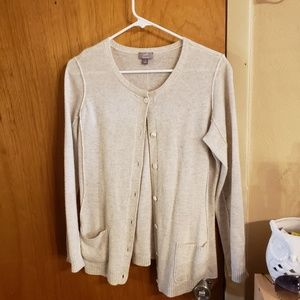 J. Jill Italian yarn cream cardigan
